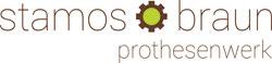 Direkteinstickung auf Jacken Logo Stamos Braun